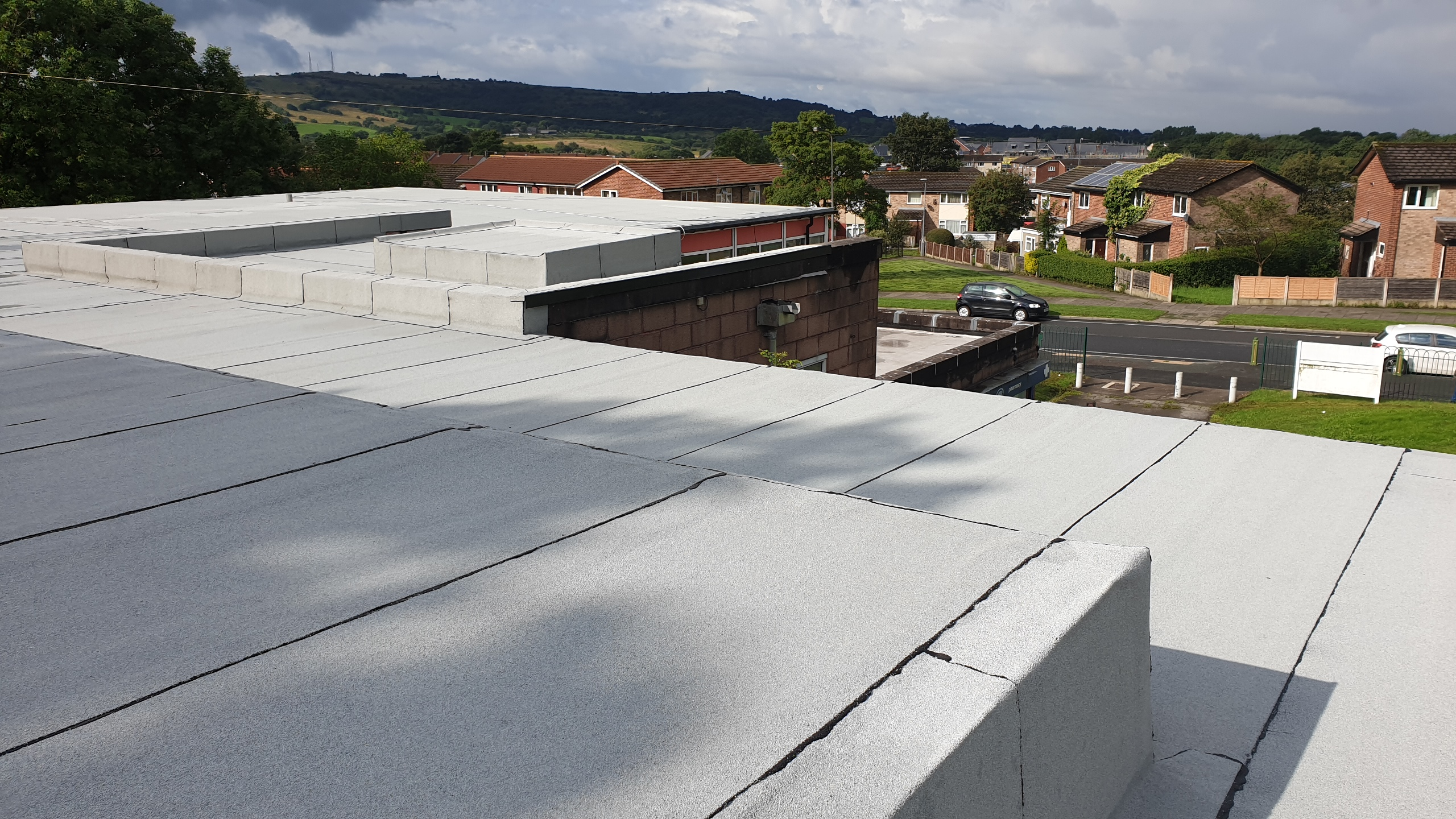 Installing an environmentally friendly roof at a health clinic